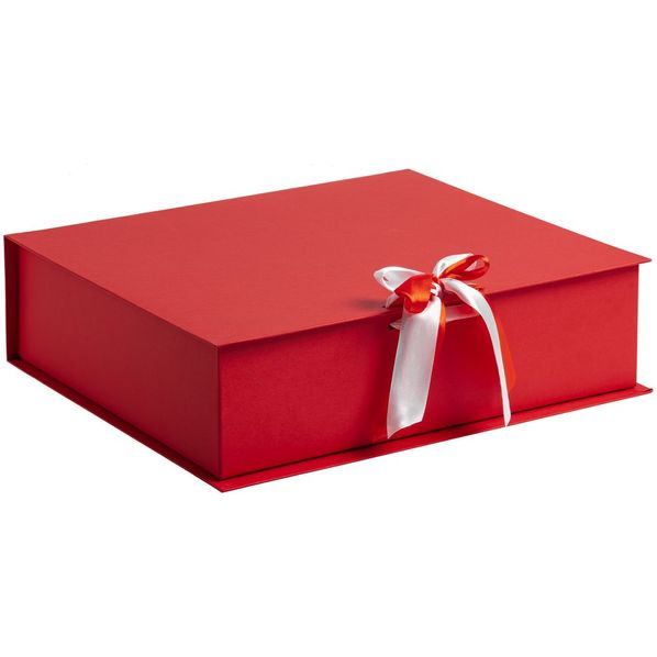Коробка на лентах Tie Up, красная - фото № 1