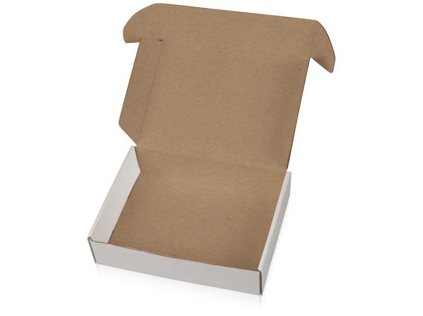 Коробка подарочная Zand M, белая/ крафт - фото № 1