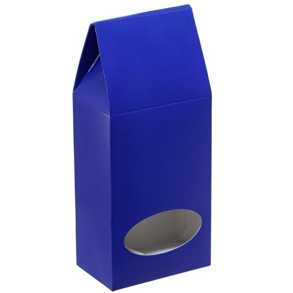 Коробка с окном English Breakfast, синяя - фото № 1