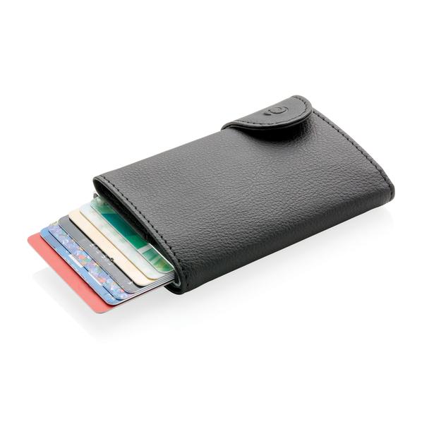 Кошелек с держателем для карт C-Secure RFID, черный - фото № 1