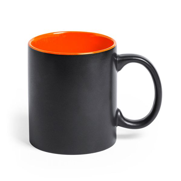 Кружка Bafy, 350 мл, черная / оранжевая - фото № 1