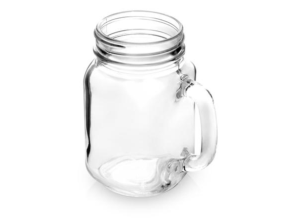 Кружка-банка стеклянная Smoothie, прозрачная - фото № 1