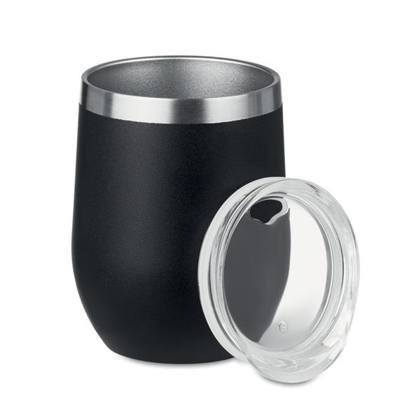 Кружка двустенная 350мл, черный - фото № 1
