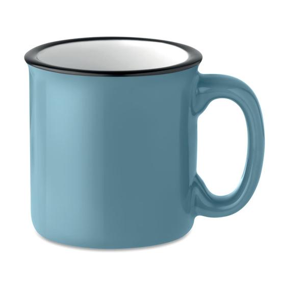 Кружка керамическая ретро, синий - фото № 1