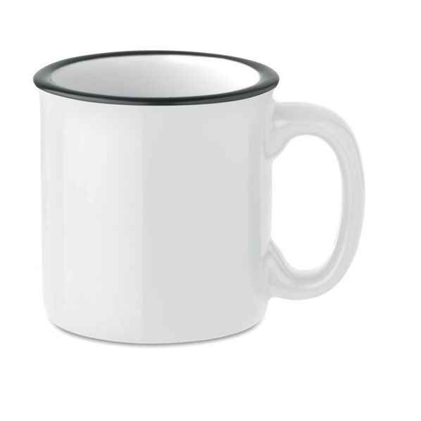 Кружка керамическая ретро, белый - фото № 1