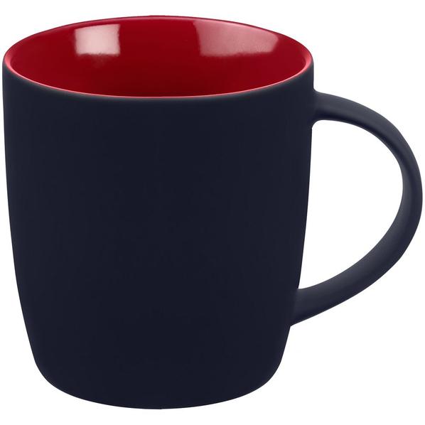 Кружка Molti Surprise Touch c покрытием софт-тач, красная/ синяя - фото № 1