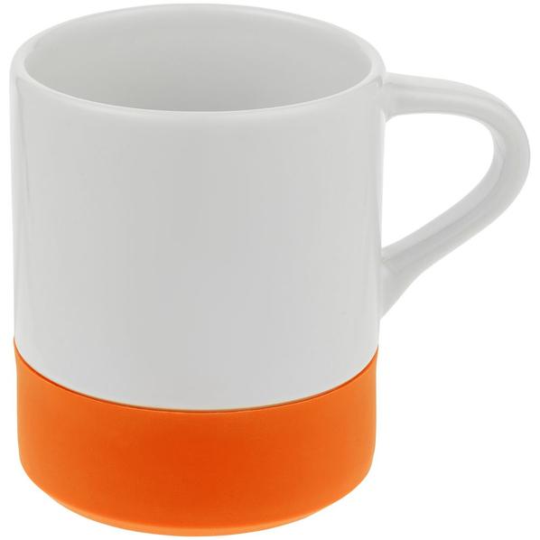 Кружка с силиконовой подставкой Molti Protege, оранжевая - фото № 1