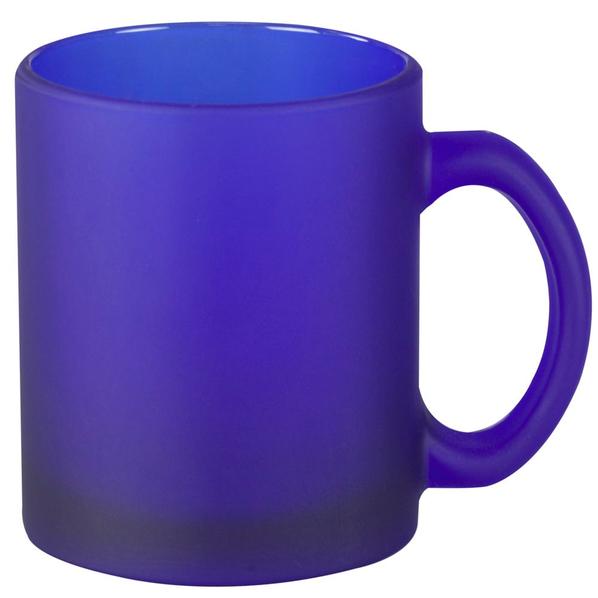 Кружка стеклянная матовая Foggy, синяя - фото № 1