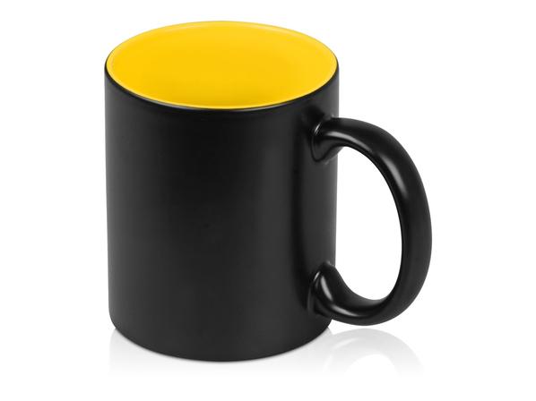 Кружка Subcolor BLK, черный, желтый - фото № 1
