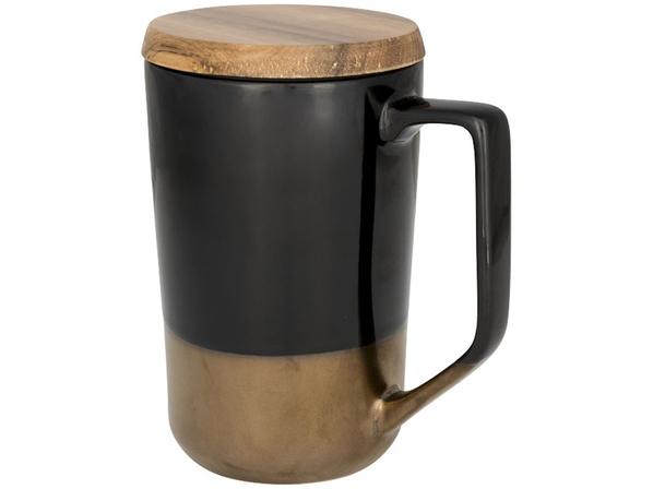 Кружка Tahoe, черный/ коричневый - фото № 1