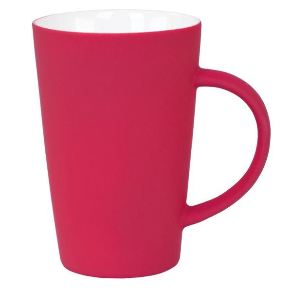 Кружка Tioman с прорезиненным покрытием, красная - фото № 1