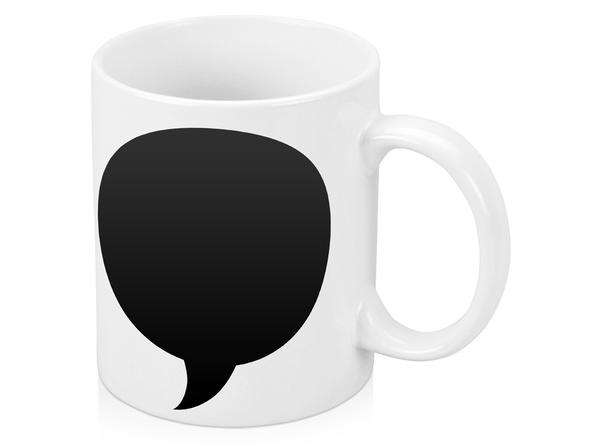 Кружка Tiza, черный, белый - фото № 1