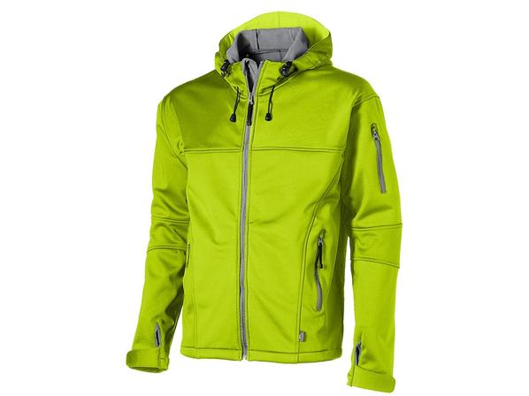 Куртка софтшел мужская Slazenger Match, зеленая/ серая - фото № 1