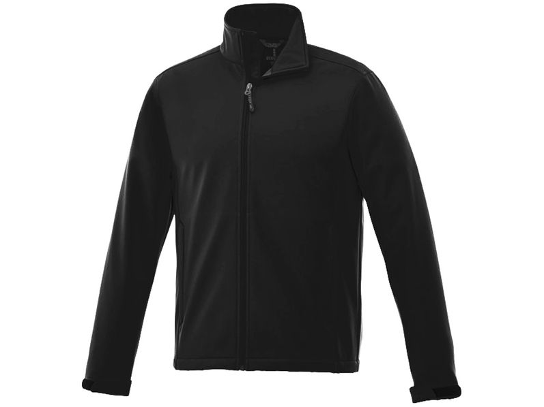 Куртка софтшел мужская Elevate Maxson, черная - фото № 1
