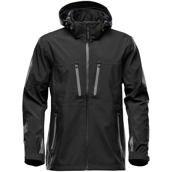 Куртка софтшелл с водонепроницаемыми молниями мужская Stormtech Patrol, черная/ серая - фото № 1