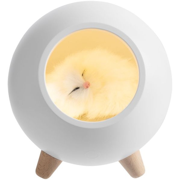 Лампа-колонка Molti Right Meow беспроводная, белая - фото № 1