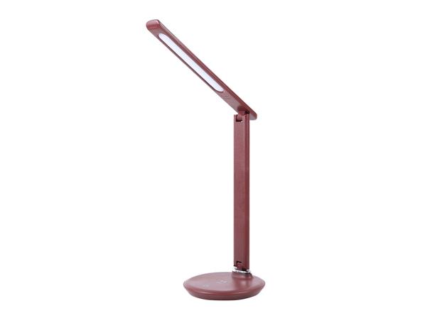 Лампа с беспроводной зарядкой Led Faros настольная, бордовая - фото № 1