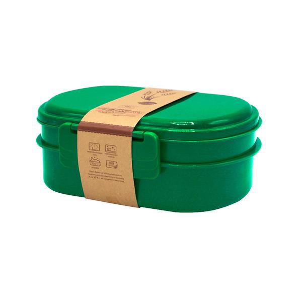 Ланч-бокс Grano, 900 мл, зеленый - фото № 1