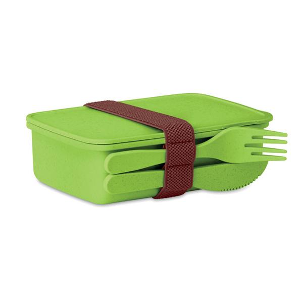 Ланч-бокс из бамбука, салатовый - фото № 1