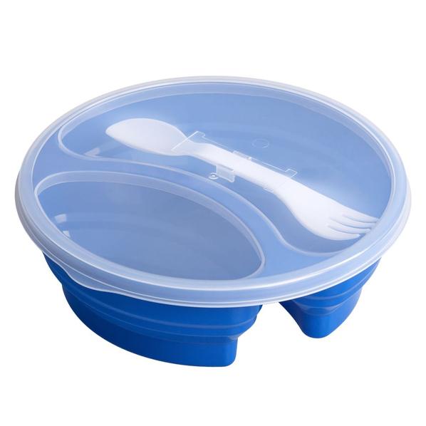 Ланчбокс Lunch, синий - фото № 1