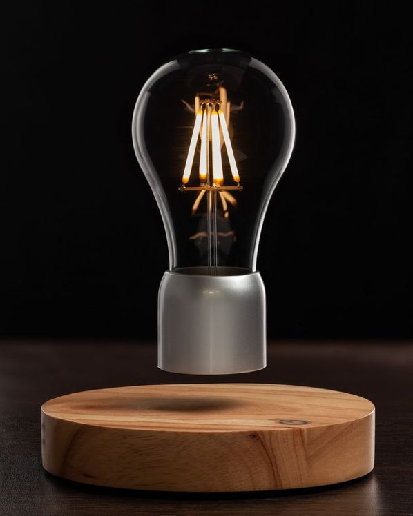 Левитирующая лампа FireFly, серебристый/бежевый - фото № 1