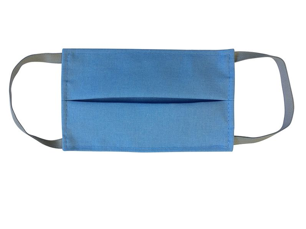 Маска для лица многоразовая из хлопка, голубая - фото № 1