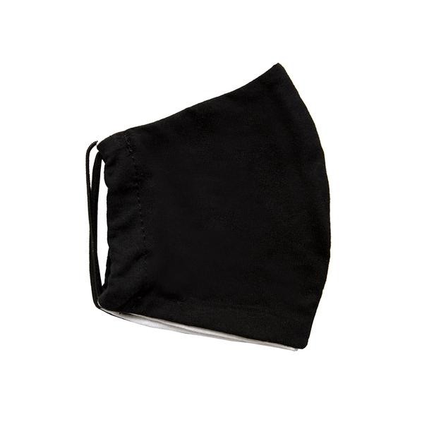 Маска защитная для лица многоразовая двухслойная, черная - фото № 1