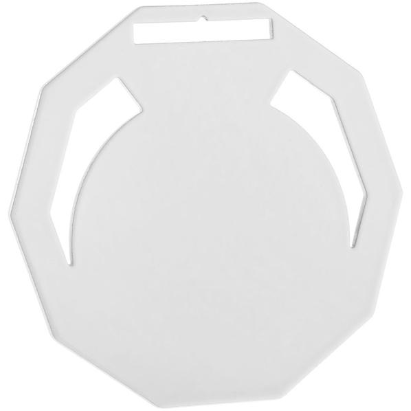 Медаль металлическая Steel Deca, белая - фото № 1