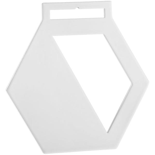 Медаль металлическая Steel Hexa, белая - фото № 1