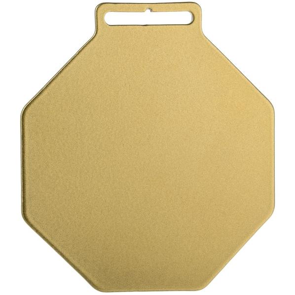 Медаль металлическая Steel Octo, золотистая - фото № 1