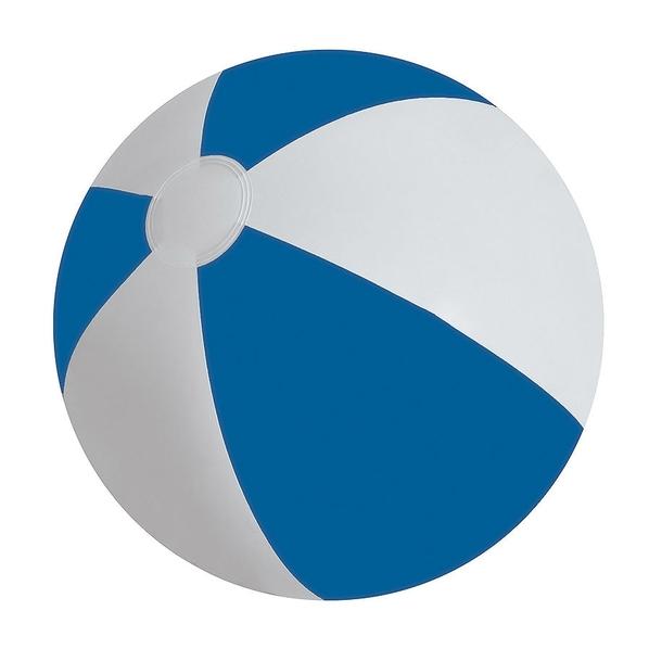 Мяч надувной ЗЕБРА, синий, 45 см, ПВХ, шелкография - фото № 1