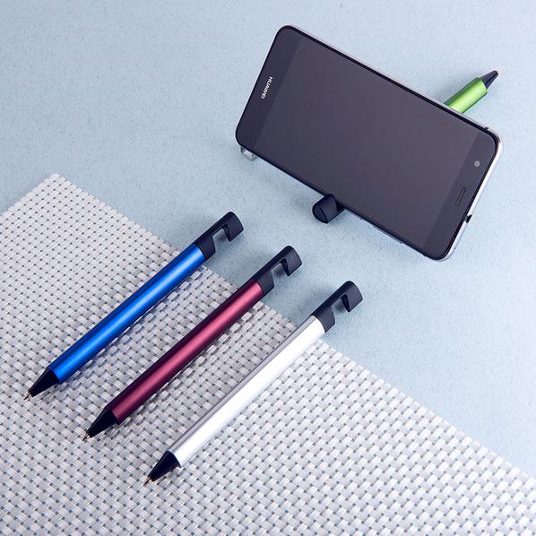 Ручка шариковая пластиковая / подставка для телефона NeoPen N5, зеленая - фото № 1