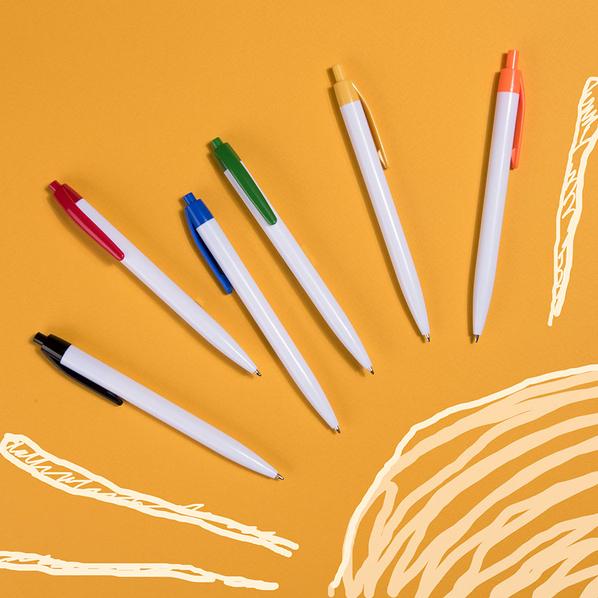 Ручка шариковая пластиковая NeoPen N8, белая / оранжевая