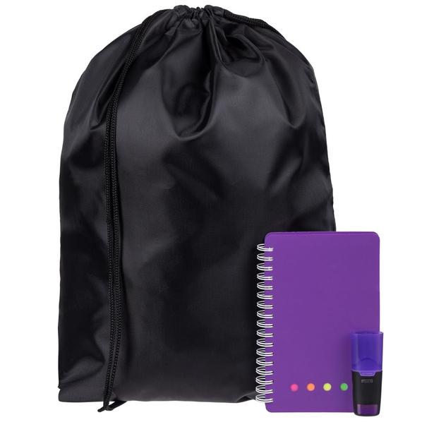 Набор Acid Jazz: рюкзак Element, блокнот Stick, маркер текстовый Liqeo Mini, фиолетовый - фото № 1