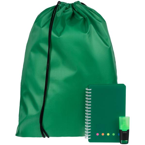 Набор Acid Jazz: рюкзак Element, блокнот Stick, маркер текстовый Liqeo Mini, зеленый - фото № 1