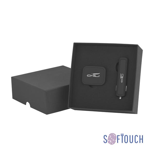 Набор: автомобильное зарядное устройство Slam + магнитный держатель для телефона Allo2, черный - фото № 1