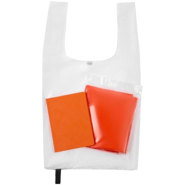 Набор Brainstorm: ежедневник Flex Shall, сумка складная Packins, дождевик CloudTime, оранжевый - фото № 1