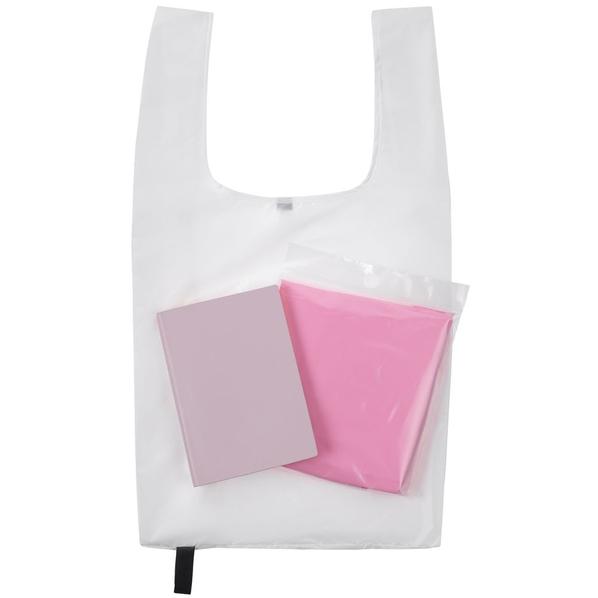 Набор Brainstorm: ежедневник Flex Shall, сумка складная Packins, дождевик CloudTime, розовый / белый - фото № 1