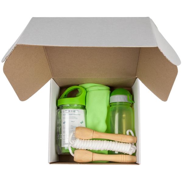 Набор Bumpy: футболка женская, бутылка для воды, охлаждающее полотенце, скакалка Forrest Jump, зеленый - фото № 1