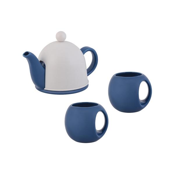 Набор чайный СлуЧАЙный восторг, белый/ синий - фото № 1