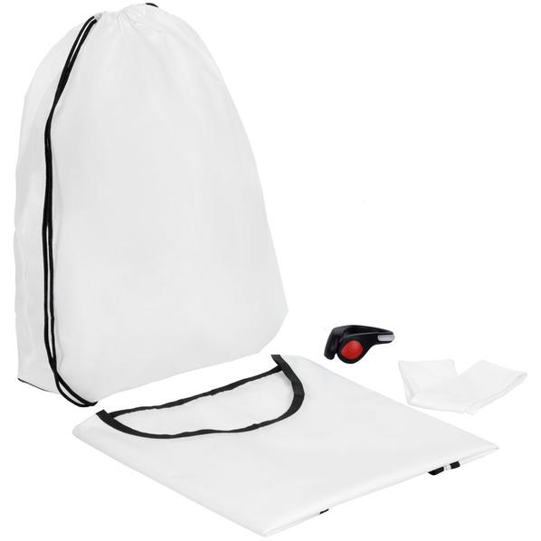Набор для бега Road Runner: манишка Member, фонарик-маячок безопасности на обувь, охлаждающая спортивная повязка на голову Cool Head, черный/ белый - фото № 1