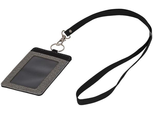 Набор для бейджа, черный, серый - фото № 1