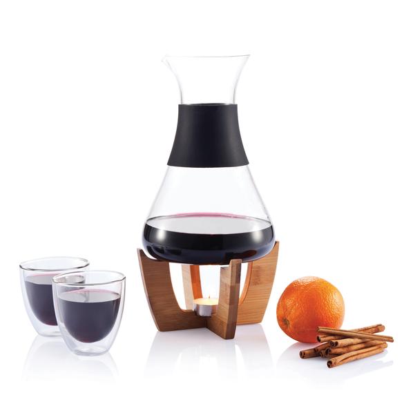 Набор для глинтвейна Glu с чашечками, черный, коричневый - фото № 1