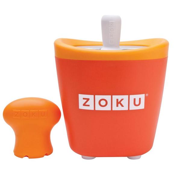 Набор для приготовления мороженого Zoku Single Quick Pop Maker, оранжевый - фото № 1