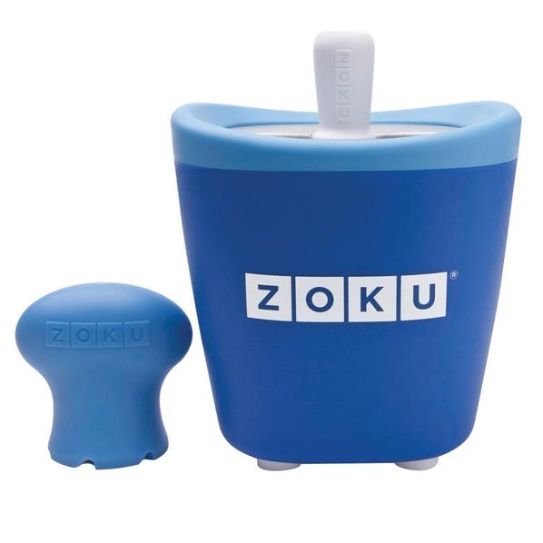 Набор для приготовления мороженого Zoku Single Quick Pop Maker, синий - фото № 1