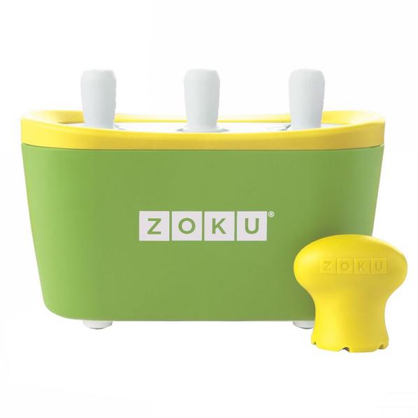 Набор для приготовления мороженого Zoku Triple Quick Pop Maker, зеленый - фото № 1