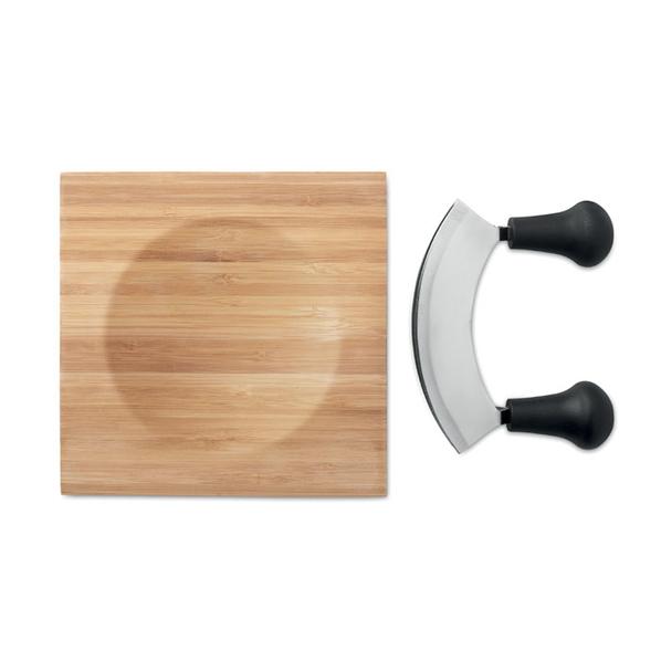Набор для сыра из бамбука, бежевый - фото № 1