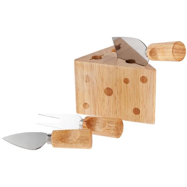 Набор для сыра Леердам, 4 предмета, крафт - фото № 1