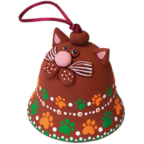 Набор для творчества Arti «Забавные колокольчики. Кот Василий»: колокольчик, кисти, краски, бусины, шнурок, разноцветный - фото № 1