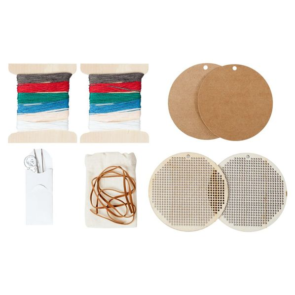 Набор для вышивания Елочная игрушка, крафт/ разноцветный - фото № 1